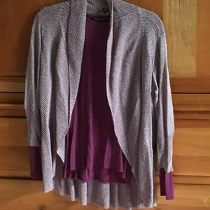 Elieen Fisher Cardigan and Long Sleeve Shirt